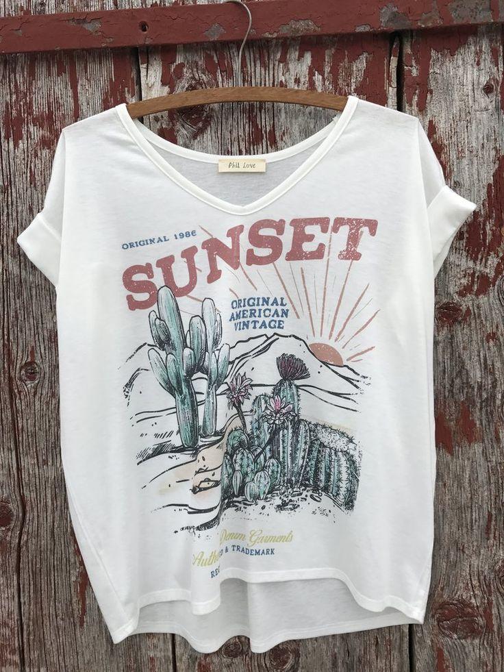 Sunset Cactus Top