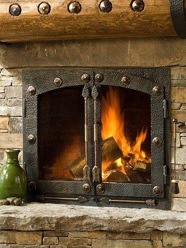 Cast Iron Fireplace Doors : Best ideas about fireplace doors on pinterest