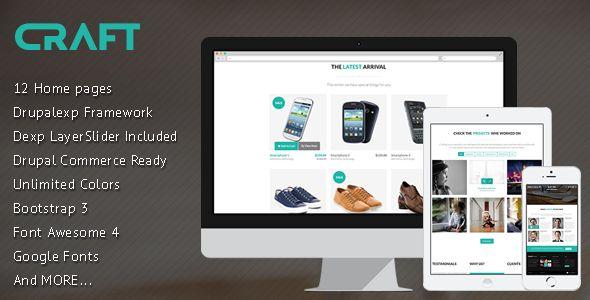 Craft - Multi-Purpose, eCommerce Drupal Theme