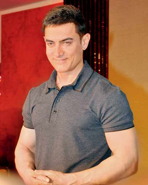 Indian film actor, Aamir Khan...