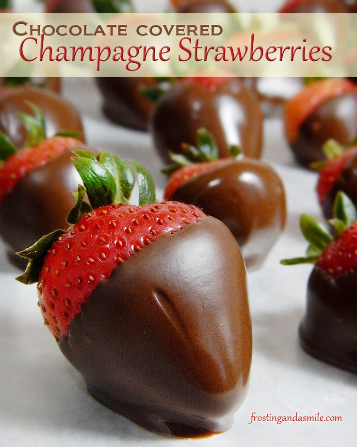 Champagne and Strawberries and Chocolate all in one yummy bite! Visit this recipe for chocolate covered champagne strawberries just in time for Valentine's Day.