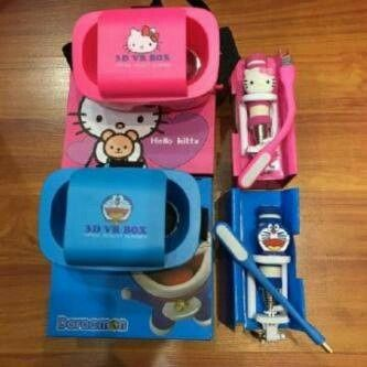 set #VR box, #tongsis, #lampu #led #doraemon & #hellokitty @ 155.000