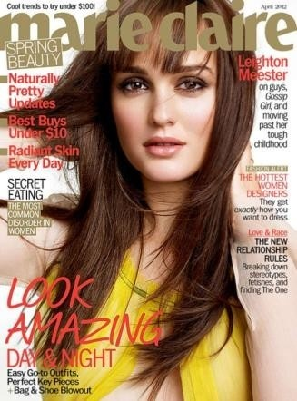 Leighton Meester on the cover of Marie Claire April 2012 now on fashionoodles.wordpress.com