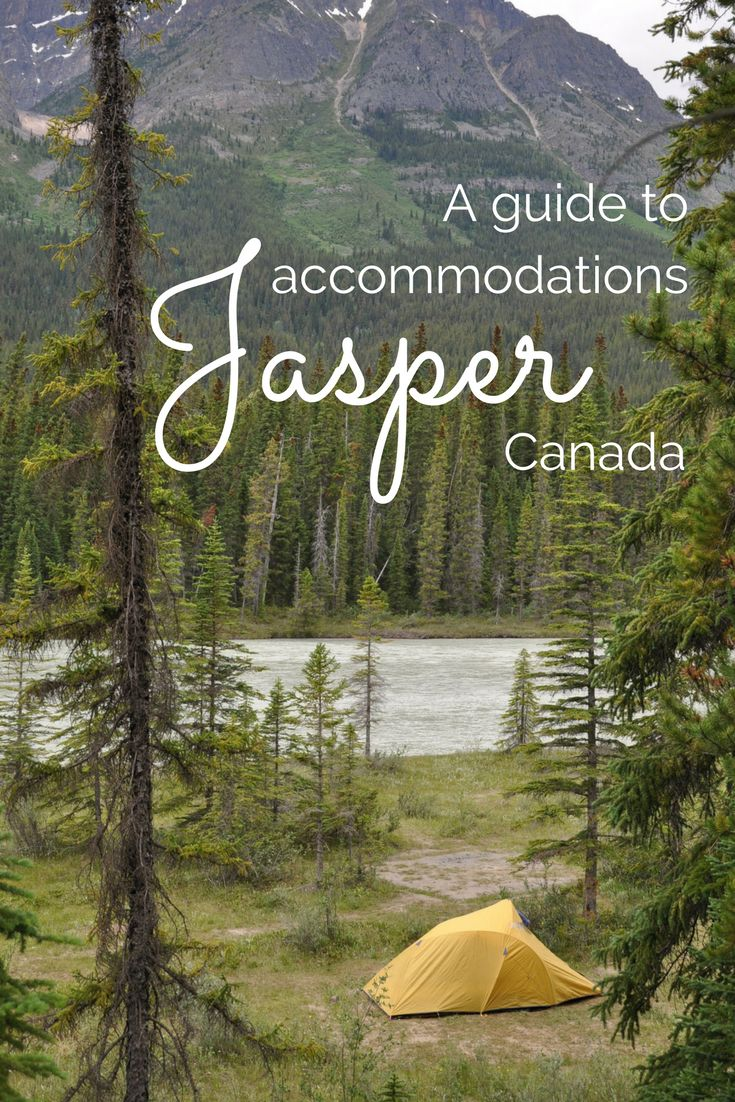This makes it easy to see all Jasper's Accommodation options: hotels, camping, cabins, hostels, rentals and more.