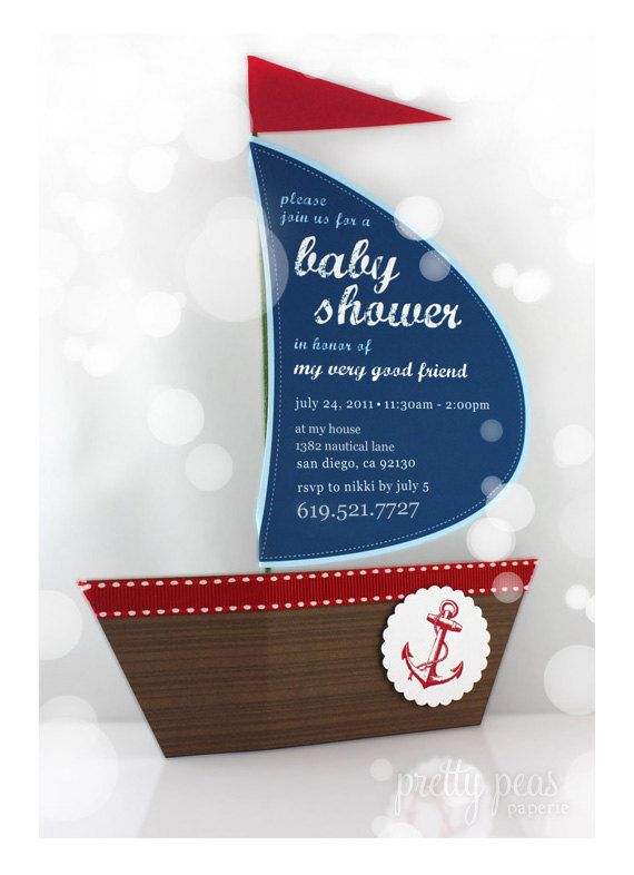 DIY Nautical Baby Shower Invitation : Printable PDF. $12.00, via Etsy.
