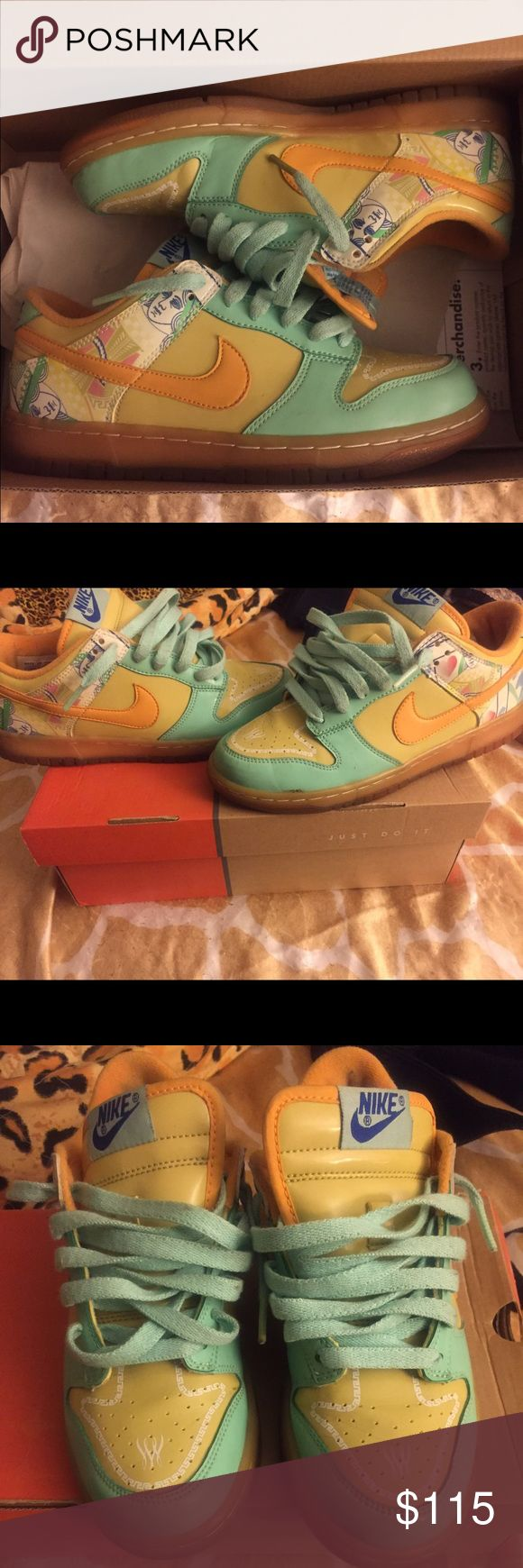 Nike Serena Williams Dunks Authentic Nike Serena Williams dunks. These are a part of the royal collection. Rare shoe ! Women's size 7.5 Nike Shoes Sneakers