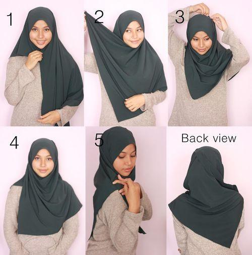 2 Minutes Simple Hijab Tutorial
