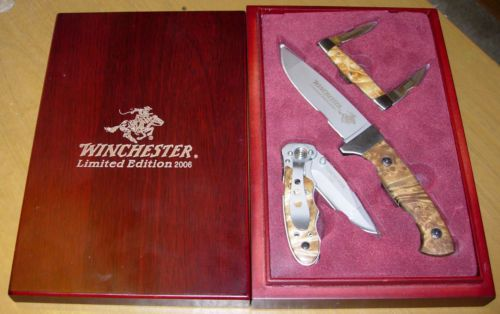 Winchester Limited Edition 2006 Knife Knives Set 3 Pcs