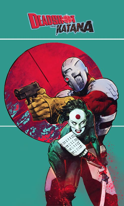 NOS! Suicide Squad Most Wanted Deadshot Katana #1 B of 6