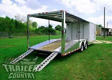 NEW 8.5 X 30 ENCLOSED  OPEN DECK CAR TOY HAULER TRAILER 10K AXLESheavy equipment trailers apply now www.bncfin.com/apply