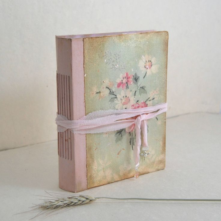 "Fairytale wedding guest book Romantic photo album Shabby chic wedding Scrapbook Art journal Rustic wedding Baby Storybook Pink . 8.5x6.5 "" de SevenMemoriesBookArt en Etsy"