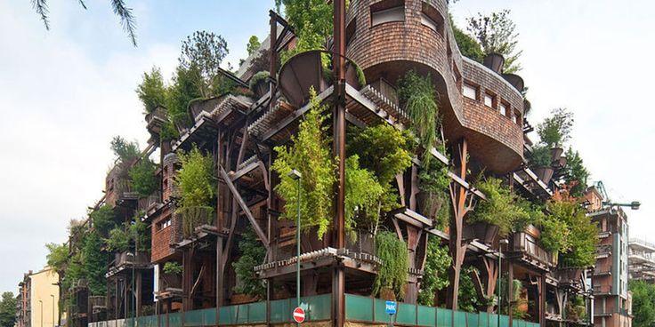 イタリアのトリノにある「大人の秘密基地」のようなツリーハウスとは?...