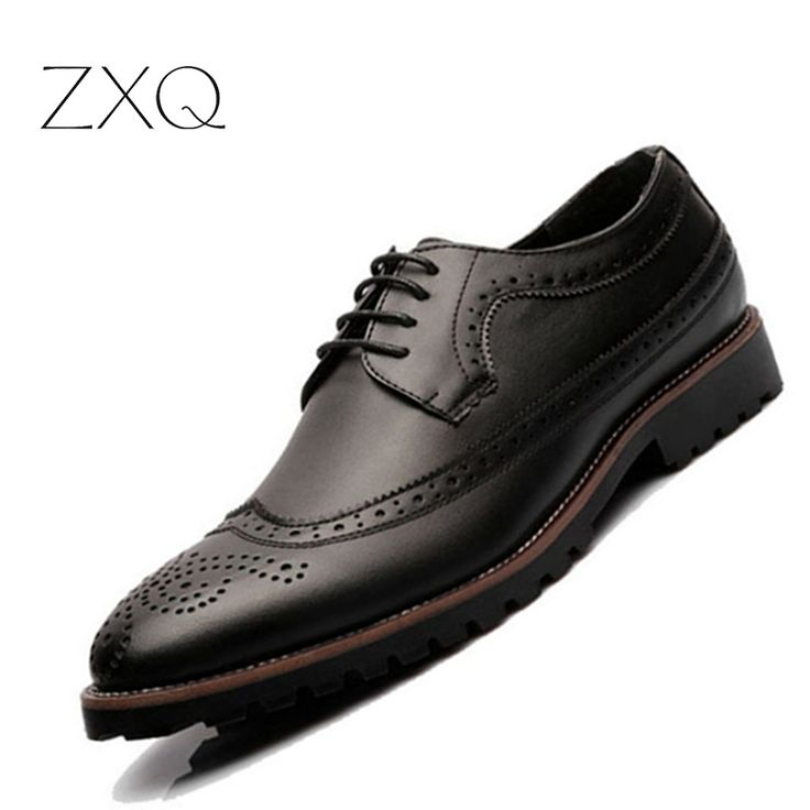 >> Click to Buy << 2016 Vintage Style Lace Up Men Shoes Leather Casual Carved Pattern Oxford Shoes For Men Round Toe Men Brogues Shoes #Affiliate