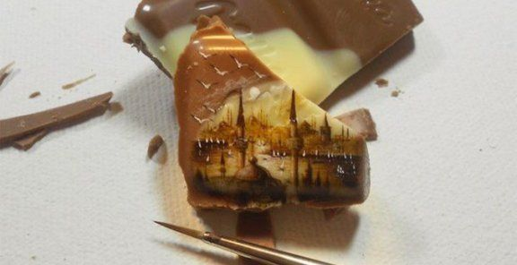 Artist paints on the tiniest foods | KitchenDaily.ca