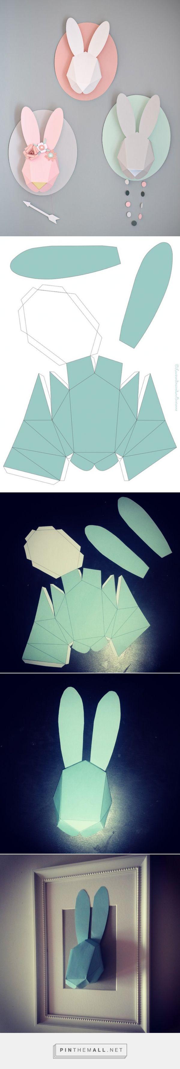 La vie ordinaire d\'une bretonne: Printable : Tête de lapin en 3D - Trophée {DIY}... - a grouped images picture - Pin Them All