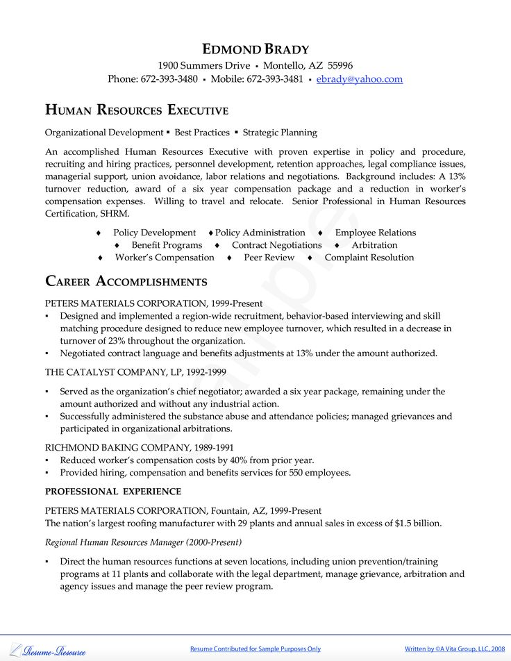 7 best Good Resume Examples images on Pinterest Good resume - human resources director resume