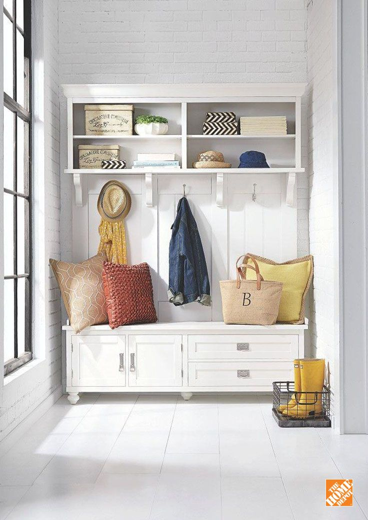 Control your clutter, be it in mudrooms or hallways or playrooms. The Vernon Hall Tree offers a mix of open shelves, drawers, and concealed storage to hold the toys, shoes and sporting gear you've been tripping over for years.
