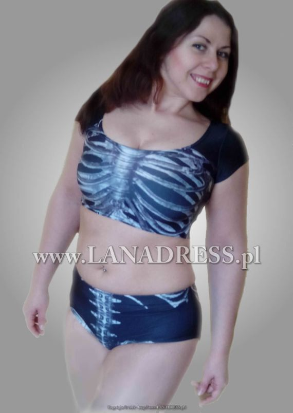 Costume of Skeleton for pole dance or other sport by Lanadresspl