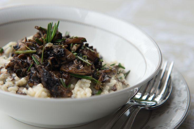Mushroom Risotto - this week on the menu. Yum Yum and easy.