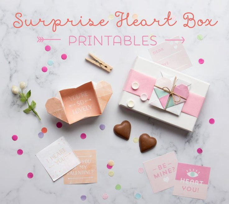 Surprise Heart Boxes Origami Printables - In The Playroom