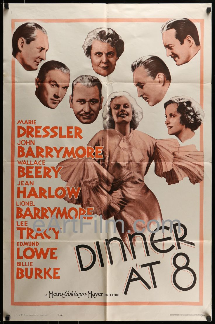 As with people, the effects of time give our posters more character: Dinner At 8-Marie... Have a look! http://eartfilm.com/products/dinner-at-8-marie-dressler-jean-harlow-billie-burke-john-barrymore-r62-27x41?utm_campaign=social_autopilot&utm_source=pin&utm_medium=pin