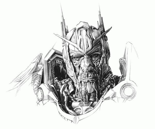 Transformers: Dark of the Moon Illustrations by Ted Mininni, via Behance