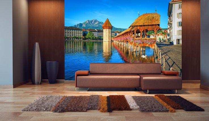 Wall Mural Lucerne – Switzerland Wall Murals / Photomurals Wall Murals 8-part