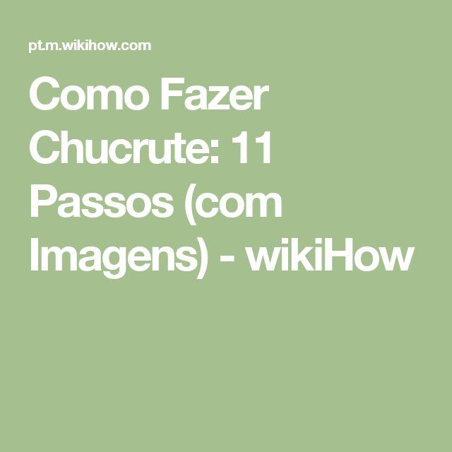 Como Fazer Chucrute: 11 Passos (com Imagens) - wikiHow