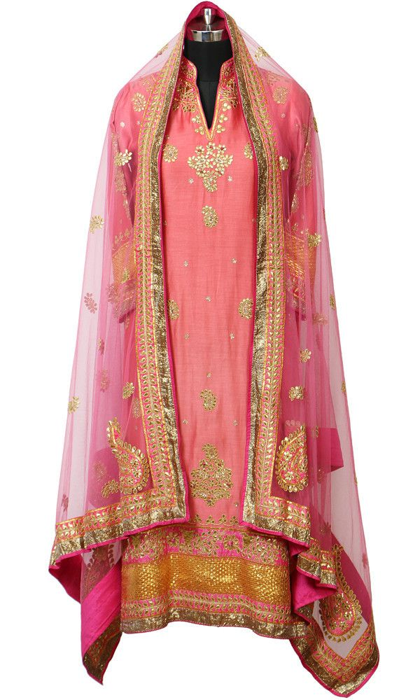 Pink Gota Patti Suit