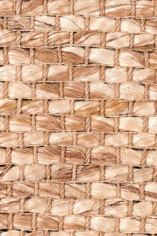 Cuyo handwoven abaca rug in Coconut colorway, by Merida.