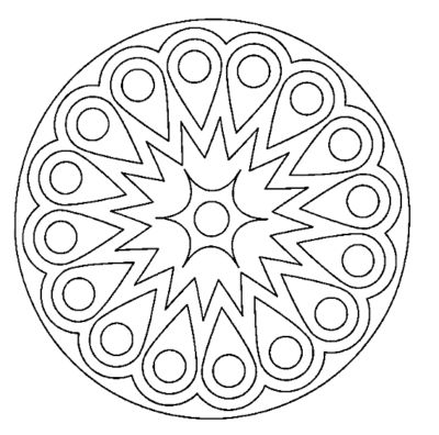 Mandalas Faciles para Colorear imprimir