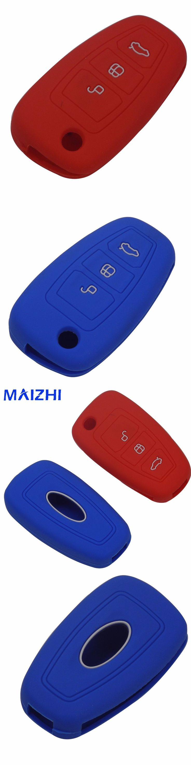 maizhi 3 Buttons Silicone Car Key Cover Case For Ford Mondeo Focus 3 MK3 Kuga Fiesta Escape Ecosport Car-styling