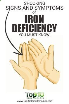 10 Signs and Symptoms of Iron Deficiency You Must Know!http://www.top10homeremedies.com/news-facts/10-signs-symptoms-iron-deficiency.html
