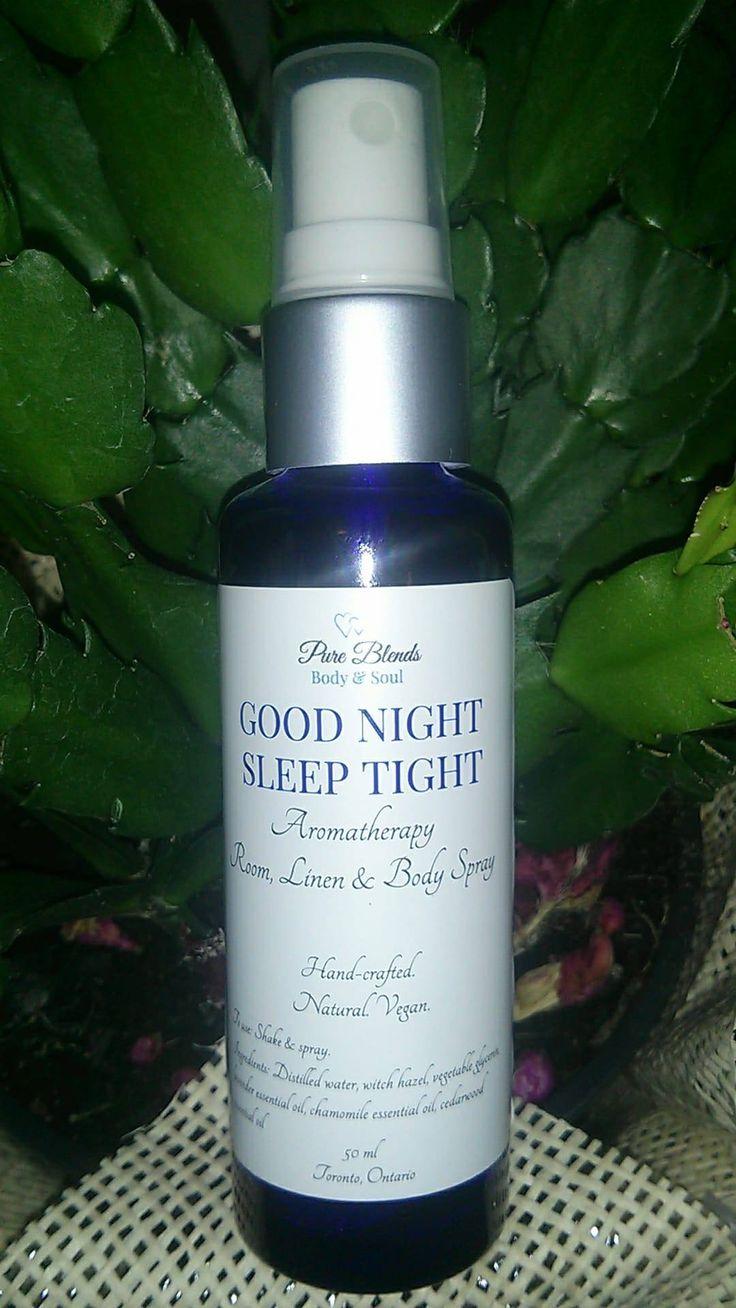 Good Night Sleep Tight Aromatherapy Room, Linen & Body Spray