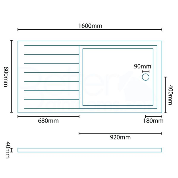 L Shaped Shower Tray Part - 45: 1600 X 800 Walk In Shower Tray. Better Bathrooms