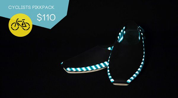 CYCLISTS PIKKPACK SHOES DIY KIT on Kickstarter @Pikkpack Shoes by YOU