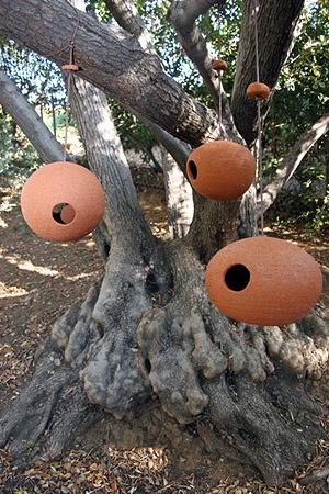 Lav skulpturer der kan hænge i træerne, som også fungerer som fugle foder steder, hæng mange det er flot - Stan Bitters