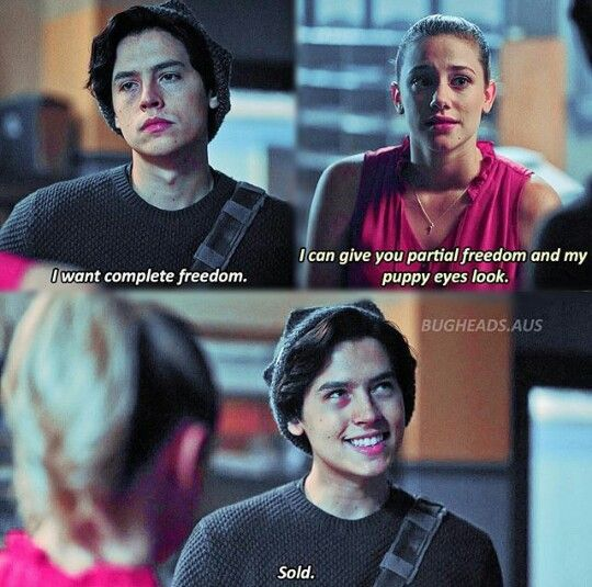1. Cole is so cute 2. Omg Cole though 🤤🤤 3. I freaking love him 4. Honestly bughead is couple goals