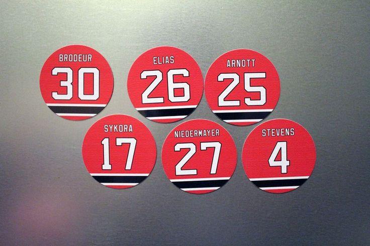 Martin Brodeur Stevens Niedermeyer Magnets - New Jersey Devils - Select a player #none #NewJerseyDevils