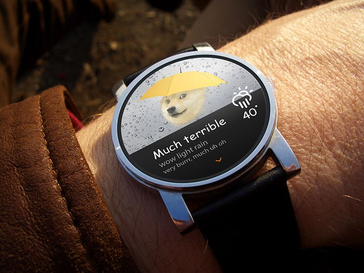 Android Wear - Doge Weather
