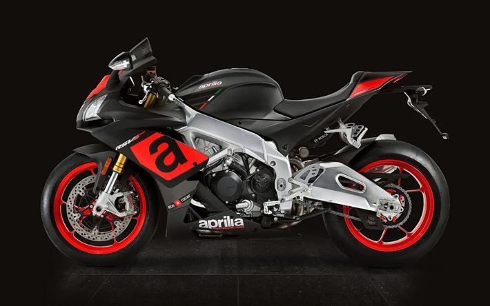 Descargar fondos de pantalla 4k, Aprilia RSV4 RR, motos deportivas, 2017 bicicletas, italiano de motocicletas, Aprilia