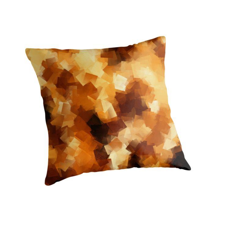 Cubist Fire Throw Pillows