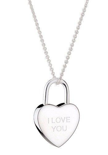 I Love You My Heart Silver Tone Pendant