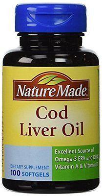Nature Made Cod Liver Oil -- 100 Liquid Capsules (Pack of 3)
