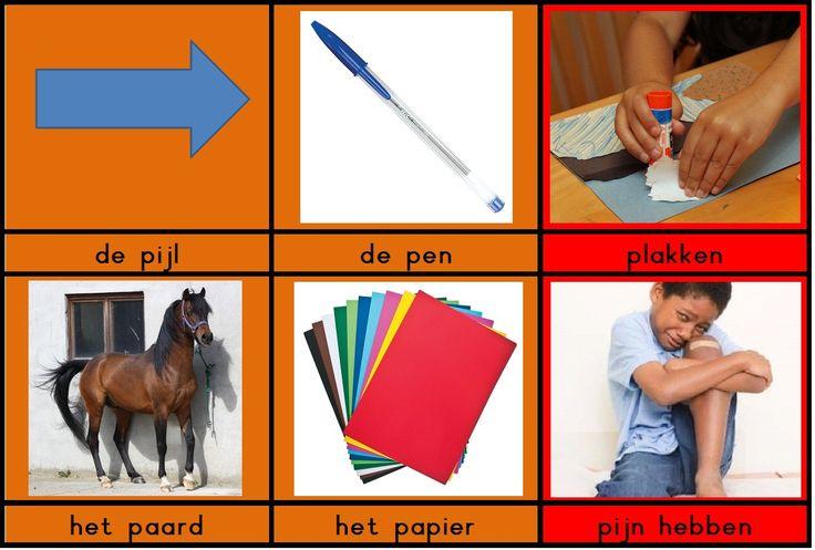 woordkaartjes met de klank / p /