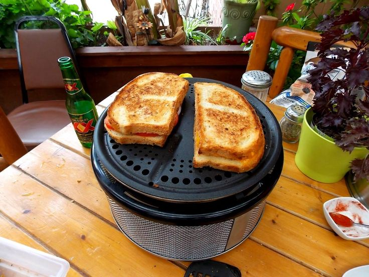 Grilled sandwich directly on the Cobb Grill Grid. Quick and easy. Let the children help!