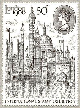 De vader van John Patterson is een postbode, daardoor koos ik dit Londense postzegeltje.