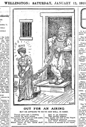 Out for an airing - Jan 12 1918 NZ Truth