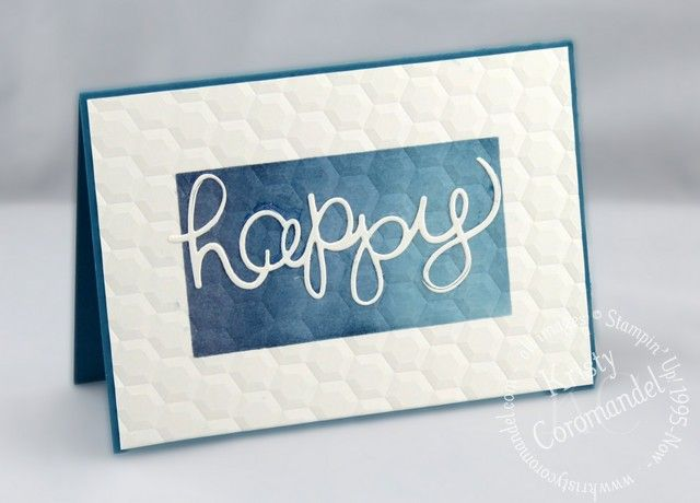 Create a Gradient Sponged Background using products you have and put them to good use to make a bunch of cards… all with a simple card design.