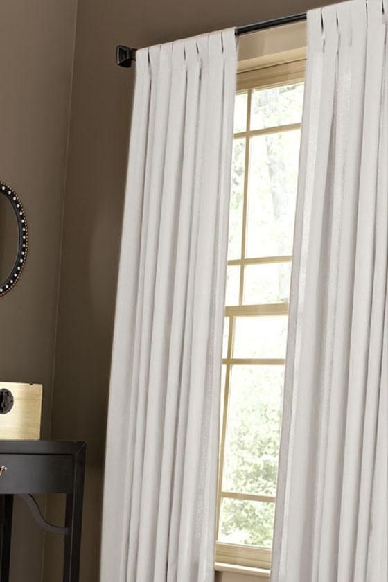 Martha Stewart Living Classic Cotton Drapery Panel, Pure White    Traditional   Curtains     By Home Decorators Collection
